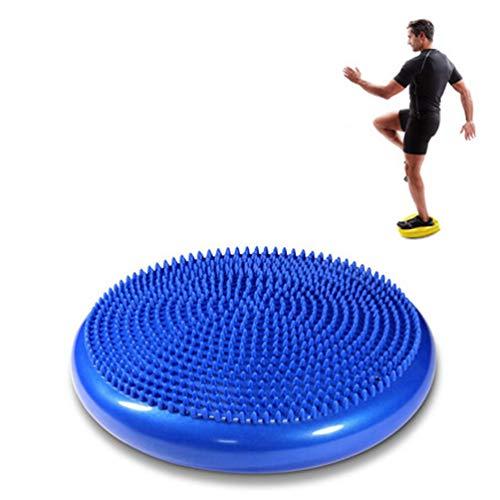 XGYUII PVC Kern Gleichgewicht Disc Yoga Balance Pad Inflatable Massage Balanceplatte Kissen senden Luftpumpe Nadel Office Home Schule 33cm,Blau