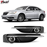 Winjet Compatible with [2011 2012 2013 2014 Chrysler 200] Driving Fog Lights + Switch + Wiring Kit