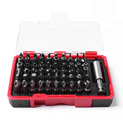 Protorq High Qualiy Security Bit Set, 61-Piece, S2 Steel, Temper Proof Bits, for home electoronics, vehicles, military, aerospace applications