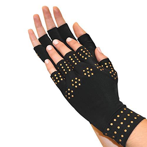 North American Health + Wellness Womens Fingerless Compression Gloves, Regular