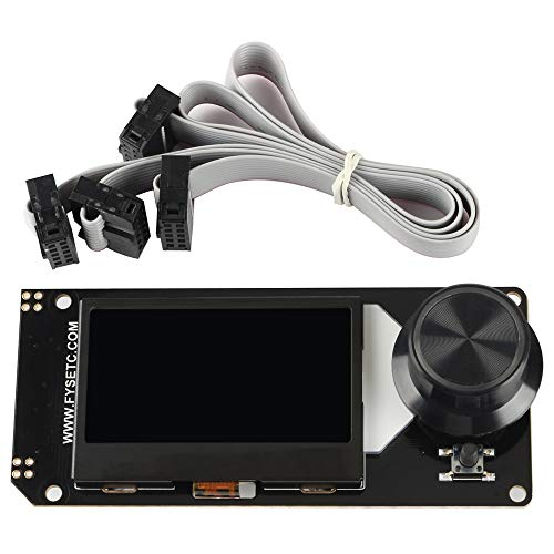 BCZAMD Mini 12864 LCD Screen Smart Display White on RGB Backlight Supports Marlin DIY for 3D Printer