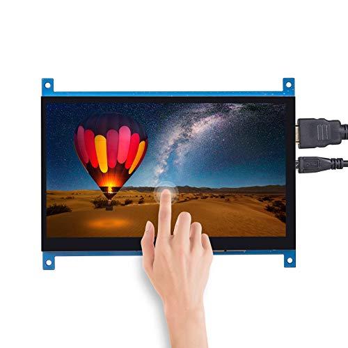 SunFounder Raspberrry Pi 4 Touchscreen HDMI 7 Zoll 1024 × 600 LCD-Bildschirm mit kapazitivem Display für Raspberry Pi 4B, 3B, 2B und 1 Modell B +, Windows