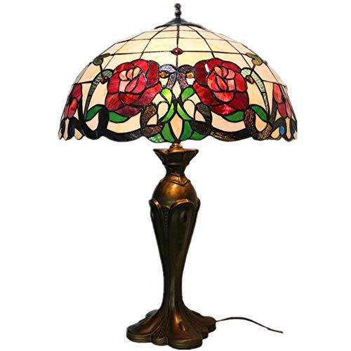 Feixunfan Bureaulamp, tafellamp, nachtlampje, glabeschilderd, lamp voor woonkamer, slaapkamer, antieke dresser salontafel naast boekenkastje, voor thuiswerk