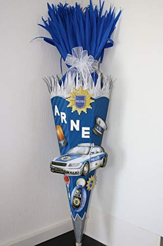 Bastelset Schultüte Polizei mit XXL Sticker blau-Weiss