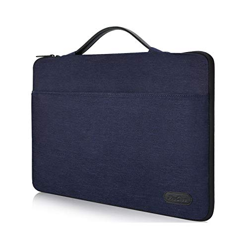 ProCase 14-15.6 Inch Laptop Sleeve Case Bag for 2019 MacBook Pro 16, Carrying BriefCase Handbag for 14' 15' 15.6' Samsung Sony ASUS Acer Lenovo Dell XPS HP Toshiba Chromebook -Darkblue
