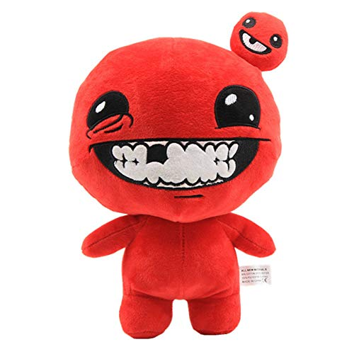 shenlanyu Juguete de Peluche 30 Cm Juego The Binding of Isaac Afterbirth Rebirth Peluche Figura De Juego Super Meat Boy Peluche De Peluche Suave para Niños