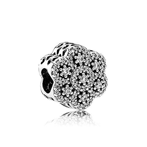 Pandora 925 plata DIY joyería Charmcrystallized floral para mujer joyería pulsera regalo