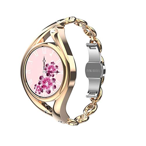 LEM1995 Smart Watch Mujeres Encantadora Pulsera Smartwatch Ultrafino para la niña Monitor de frecuencia cardíaca IP68 Reloj Impermeable,A