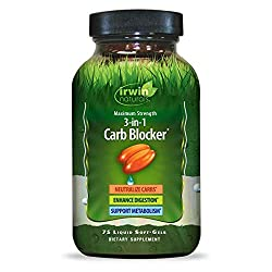 commercial Irwin Naturals Max Power 3-in-1 Carb Blocker – Neutralizes and Maintains Carbs… carb fat blocker