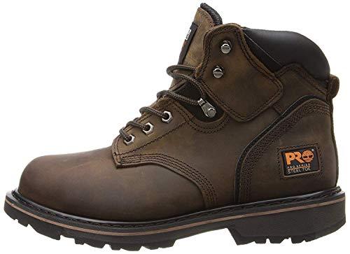 """Timberland PRO Men's Pitboss 6"""" Steel-Toe Boot, Brown , 10.5 EE - Wide"""