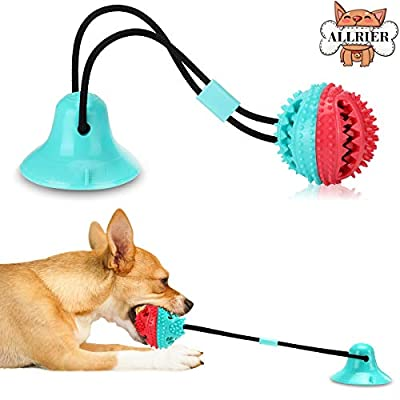 ALLRIER Dog Chew Toys for Aggressive Chewers, Puppy Dog Training Treats Teething Rope Toys for Boredom, Dog Puzzle Treat Food Dispensing Ball Toys for Small Large Dogs