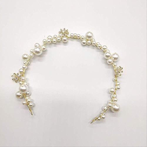 HAKJ<YT Bruidskroon tiara Sen lijn fee parel haar banden eenvoudige sieraden ultra fee handgemaakte bruidsjurk accessoires