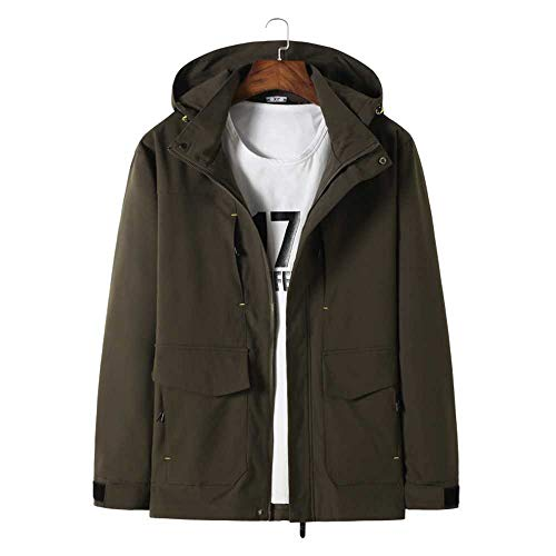 Big Plus Size 8XL 7XL 6XL   Jacken Herren Markenkleidung Autumn Spring Black Hooded Coat Plus Size Männlich Windbreaker Large Size Jacke