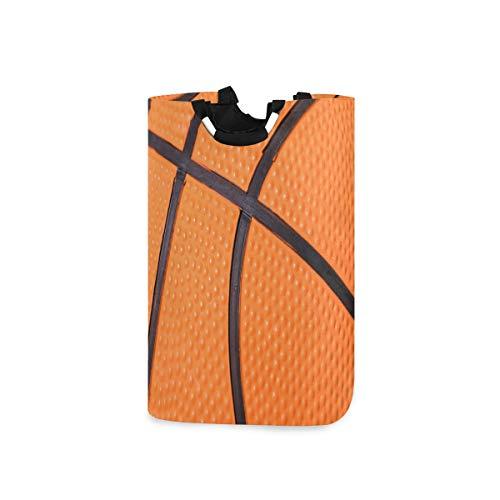 ALARGE Wäschekorb Sport Basketball Streifen Textur faltbar strapazierfähig Wäschekorb Aufbewahrungstasche Wäschekorb Spielzeug Kleidung Organisation mit Griffen