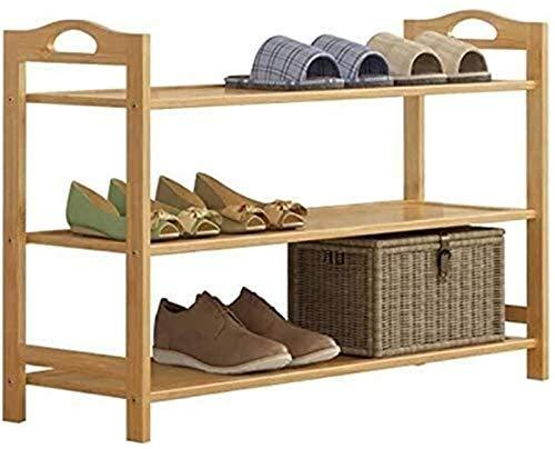 QZMX Estante de Zapatos Zapatero Zapato estantes de Madera for el Nivel 3 Armario de Estante del Zapato de Madera for el Organizador de Muebles Grandes Estante