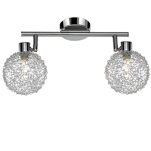 Monzana Lámpara de techo 'Calla' bolas cubierta con alambre decoración luz de interior iluminación 2 focos orientables 3W