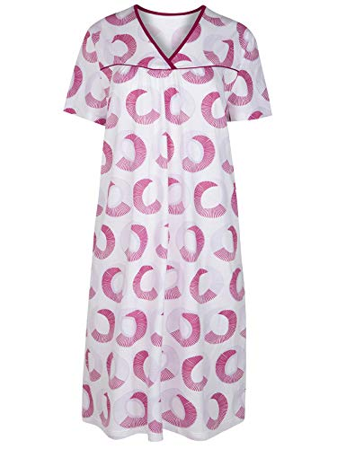 Cybele Nachthemd 7-800453 Gr. 38 in weiß-Beere
