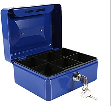 Money Box Safety Boxes for Home S,Blue Safe Box Safe and Lock Box Steel Alloy Drop Safe Safes And Lock Boxes Digital Safe Box