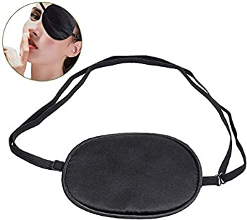 Pure Silk Eye Patch For Adults Amblyopia Obscure Astigmatism Training Strabismus Correction Black