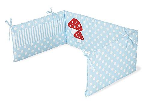 Pinolino 650969-2 - Nestchen für Kinderbetten, 'Glückspilz' hellblau