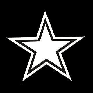 Cowboys Star Decal Vinyl Sticker|Cars Trucks Vans Walls Laptop| White |5.5 x 5 in|LLI323