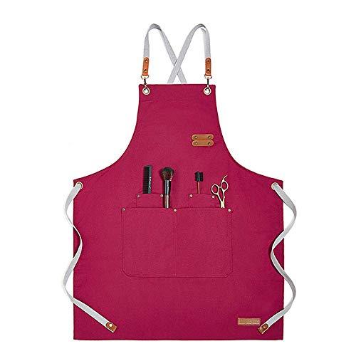 YUEZPKF Hermoso 2020 Color sólido Cocina Cocina Delantal Chef Waiter Cafe Barbecue...