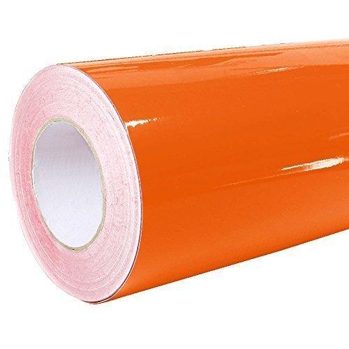 Rapid Teck® 4,75€/m² Glanz Folie - 034 Orange - Klebefolie - 5m x 63cm - Folie selbstklebend - Plotterfolie - auch ALS Moebelfolie