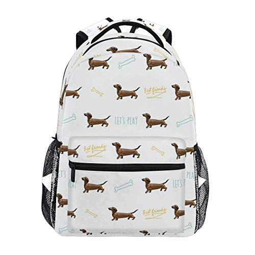 VLOOQ-HX Stylish Sausage Hot Dog Backpack- Lightweight School College Travel Bags 16 X 11.5 X 8 inch