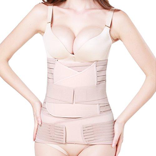 Ceinture de récupération après accouchement,Gaine postpartum, pelvienne,abdominale pour Femme belly belt Respirant Réglable Multifonctionnel (Nude 01)