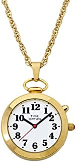 Ladies' Gold Tone Talking Pendant Pocket Watch with Choice of Voice (Male & Female)