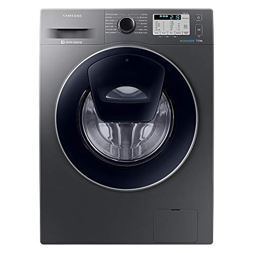 Samsung WW70K5413UX Freestanding Washing Machine with Addwash and Ecobubble, 7 kg Load, 1400 rpm Spin, Graphite
