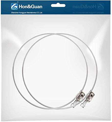 Hon&Guan - Abrazadera de manguera ajustable de acero inoxidable para ventilador de conducto en línea, 2 unidades (200 mm)