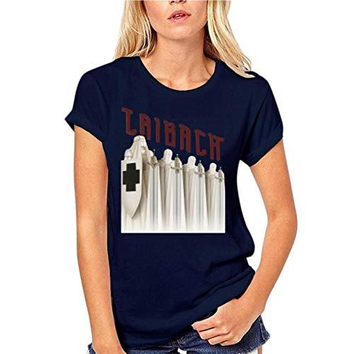 2021 Casual Fashion T-Shirt 100% Cotton Laibach Slovenian Avant-Garde Band Poster Tour Men's Black Size S - 3XL Brand
