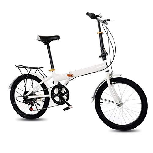 ZHEDYI Bicicleta Plegable De 20 Pulgadas Adulto Bici, Bicicletas Marco De Aluminio...