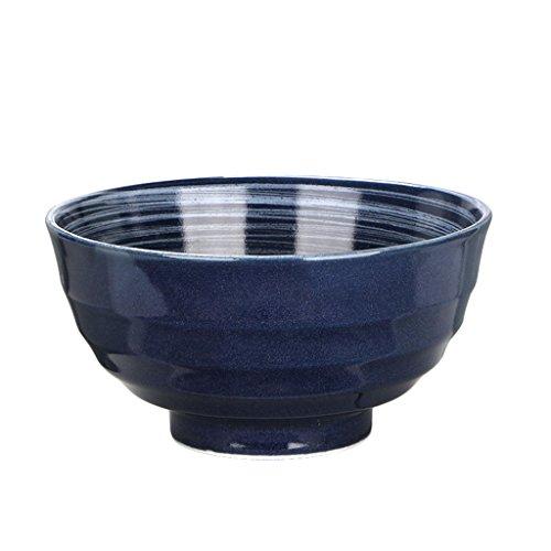 KJinZ - Bols en céramique - Bleu marine - Bol à soupe - Bol à riz - Bol à rameaux - Bol à salade - Couverts multifonctions - 11,8 x 6,5 cm - Durable - Taille : 11,8 x 6,5 cm