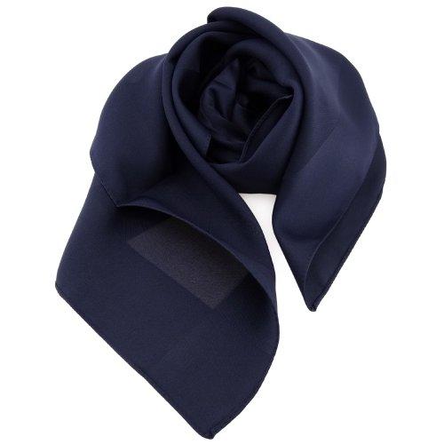 TigerTie damas pañuelo azul oscuro azul marina monocromo - paño pañuelo bufanda