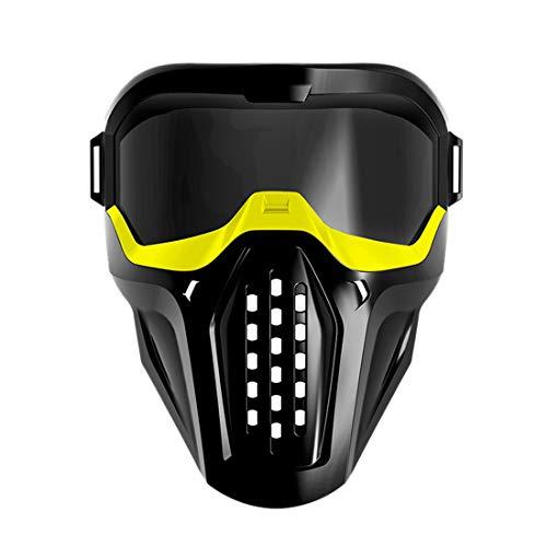 GODNECE masker Airsoft militair masker voor Nerf Airsoft masker met bril 42-55cm