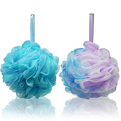 Schwamm Dusche, 2 Stück Körper Badeschwamm Dusch Schwamm Body Massageschwamm Peeling für Erwachsene Vibe Farbe