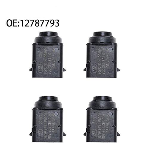Radar de marcha atrás 4PCS original del coche PDC SENSOR DE APARCAMIENTO for 12787793 OPEL, SAAB 9-3, VECTRA C, Opel Astra, Zafira, 0263003172 Sensor de radar de marcha atrás ( Color : Black )