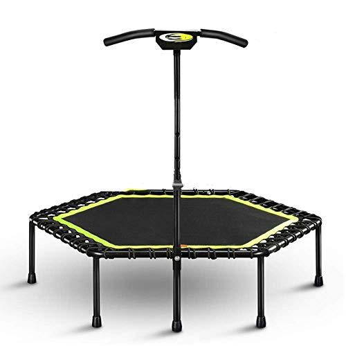 Volwassenen Fitness Trampoline, Met Verstelbare Handgrepen, Kleine Fitnessruimte Trampoline Voor Indoor Fitness, Bungee Trampoline Jumping Cardio Trainer Workout for Adults