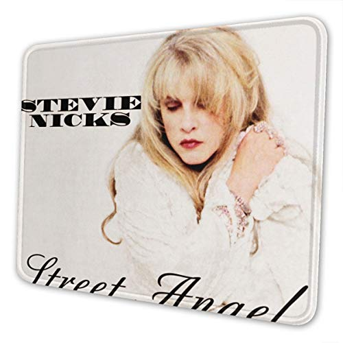 Stevie Nicks Street Angel Mouse Pad with Seam Edge Texture Mouse Pad Natural Non-Slip Rubber Base 7.9 X 9.5 in