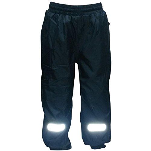 Outburst - Jungen Regenhose Matschhose Skihose Fleecefutter wasserundurchlässig, dunkelblau, Größe 104