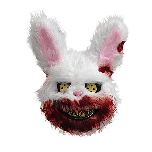 Yue668 Manta de conejo de fiesta de Halloween con máscara de cara completa, para disfraz de oso o para el pelo, para el pelo, para el pelo, para el pelo, para el pelo