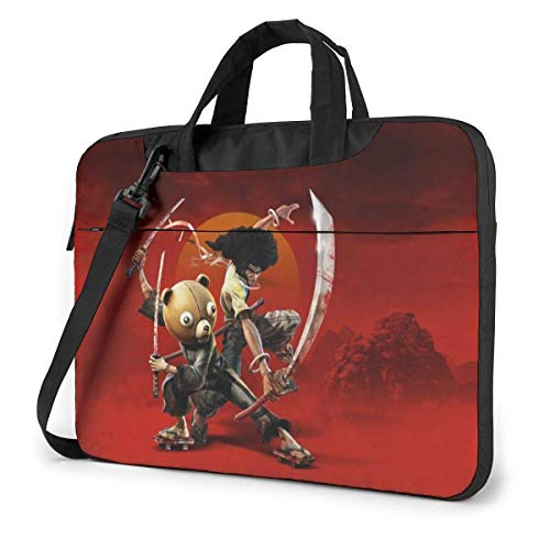 XCNGG Anime Afro Samurai Stylish Customized Laptop Shoulder Bag, Suitable for 13-15.6 inch MacBook Pro/Air and Most Other Laptops, Portable Laptop Bags, Briefcase Protective Covers