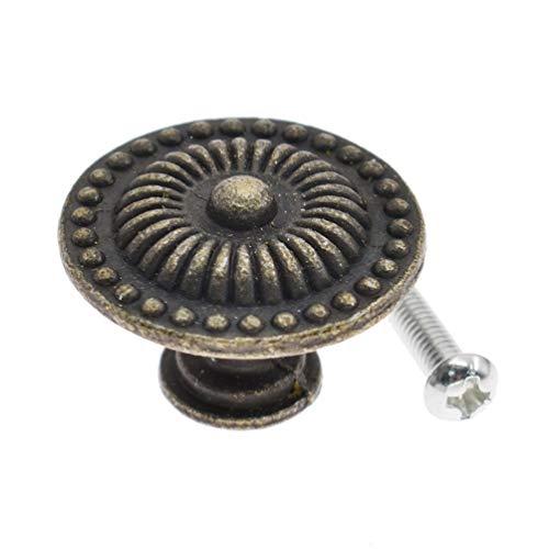 Kesheng 5X Möbelknöpfe Schrankknöpfe Rudn Bronze Chinesisch Antik Dekor 24mm 30mm