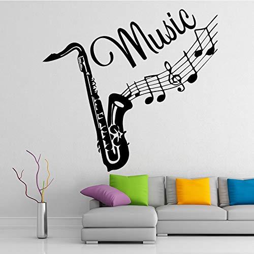 mlpnko Kreative Posaune Musikinstrument Wandaufkleber Kinderzimmer abnehmbare Vinyl Mode Musik Aufkleber,CJX10457-58x62cm
