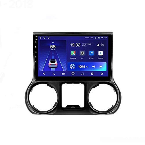 MIVPD Android 10.0 Autoradio SAT NAV Radio per Jeep Wrangler 3 JK 2010-2018 Navigazione GPS 9 '' unità Principale HD Touchscreen MP5 Lettore multimediale Ricevitore Video con 4G WiFi SWC