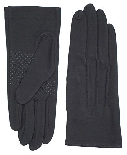 〔サンダイ〕 抗菌 防臭手袋 3色展開 綿100% シリコン滑り止め付き 手袋 メンズ レディース (ブラック, レディースS)