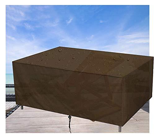 Gartenmöbel Abdeckung,Rechteckig wasserdichte Schutzhülle, für Gartentisch Sitzgruppe Gartenlounge (210D Oxford Gewebe,130x130x90cm,Braun)