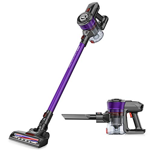 ONSON Cordless Vacuum Cleaner 20KPa Powerful Suction 250W Motor 2 in 1 Stick Handheld Vacuum for Home Hard Floor Carpet Car Pet Hairs